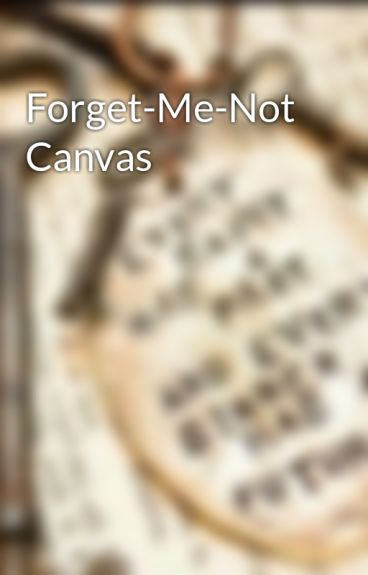 Forget-Me-Not Canvas by annabelle12
