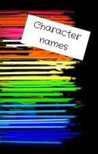 Character names by RyderLynch