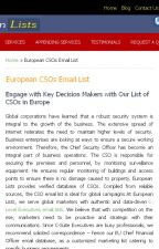 CSO Email List by europeanlist