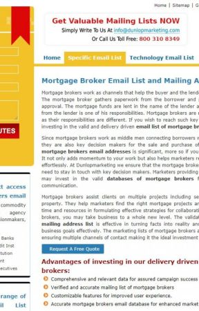 Get Effective Mortgage Brokers Email Lists - Get Unique