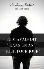 """Tu m'avais dit """" Dans un an jour pour jour"""" ( Tome 2Alex/Thibault) by PetitAnanasDesIles"""