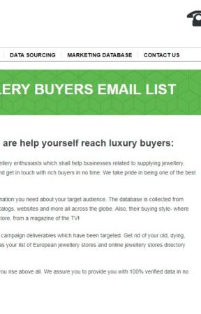 Get Verified Jewellery Buyers Mailing List - Get Best