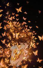 in a field of butterflies by Doveishbird