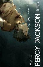 Percy Jackson [talks] by xcpmxv