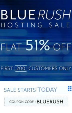 BlueHost India- Blue Rush Sale - Upto 51% Off by updatedreviews