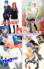 Fairy Tail Academy {Nalu, Gruvia, Jerza, Gale} by jellyfishyjelly