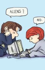 Highschool Scully and Mulder Text Messages // X Files Sculder fanfic! by TheAnonymousFox