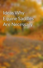 Ideas Why Equine Saddles Are Necessary by leaf33marty