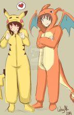 Pikachu y Charizard (elrubius y tu) by HolaSoyRaimunda