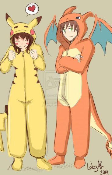 Pikachu y Charizard (elrubius y tu)