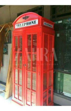 LEMARI TELEPHONE | BOX TELEPON | LEMARI HIAS UNIK by zahrafurniturejepara