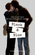 Black & Blue / Spideypool by lemonstudent