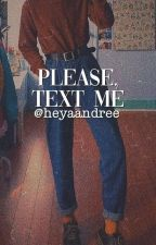 please, text me || jasonxpercy by koucchan