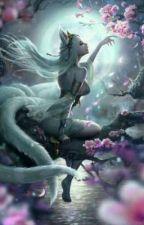 Reencarnación de un pétalo azul by wolfoxcrow