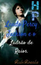 HP Lendo Percy Jackson e o Ladrão de Raios. by RubiRosalie