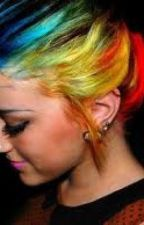 The girl with rainbow hair by flubbernugget_