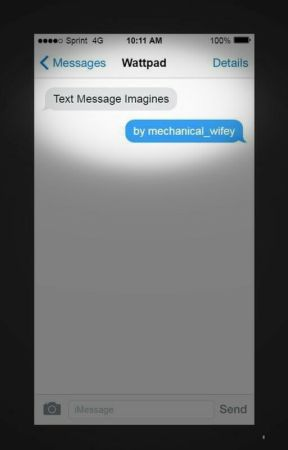 Text Message Imagines by itisannak