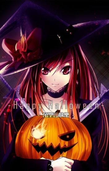A Halloween date with an Scarlet Witch - Erza x Male Reader
