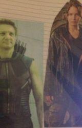 Clint Barton and Katniss Everdeen- Hawkniss by speedreader104