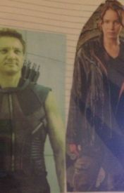 Clint Barton and Katniss Everdeen- Hawkniss by speedreader104