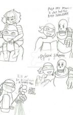 Meet each other (TMNT x Undertale AU crossover)  by Echoyaaa__