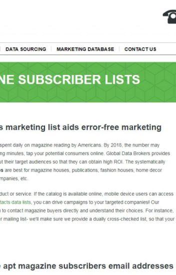 Get Massive Magazine Subscribers Mailing List - - Wattpad