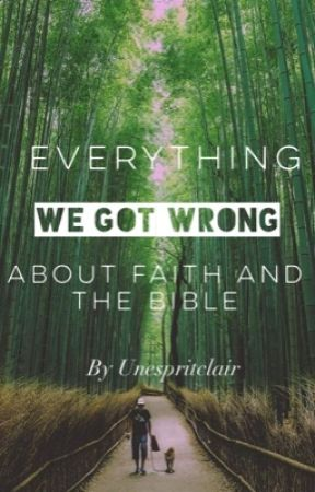 Everything We Got Wrong About Faith and the Bible by unespritclair