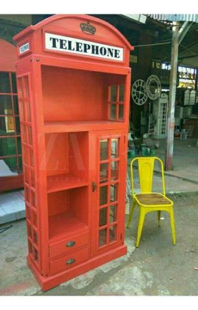 LEMARI TELEPHONE LONDON - BOX TELEPON by zahrafurniturejepara