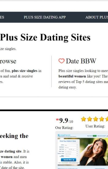 Dating sites for plus size ladies