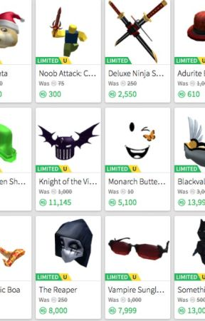 How To Buy Limited For One Robux - I Will Give You All Of These Items For The Roblox Builders