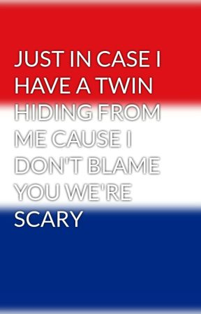 JUST IN CASE I HAVE A TWIN HIDING FROM ME CAUSE I DON'T BLAME YOU WE'RE SCARY by LafaYEET384