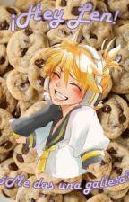¡Hey Len! ¿Me das una galleta? by r-rainbxw