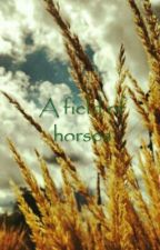 A field of horses by Snowpile
