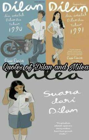 quotes of dilan and milea bag wattpad