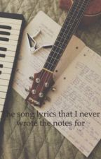 The song lyrics that I never wrote the notes for by poetiva