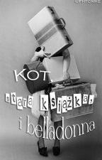 Kot, stara książka i belladonna by hopperstein