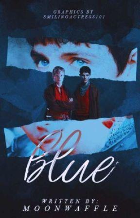 Blue • Merther (Merlin x Arthur) by wondermooon