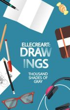 Drawings - Thousand shades of gray by ElleCreart