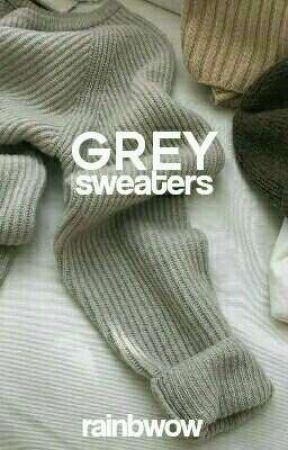 Grey sweaters by rainbwow