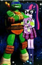 TMNT/MLP Beauty and the Beast  by 123765n