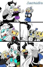 Cuphead Demon AU: Brothers Cuphead and Mugman x Baby! Sister! Reader by VioletBryant