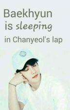 Baekhyun is sleeping in Chanyeol's lap 🌸 ChanBaek by Azil93