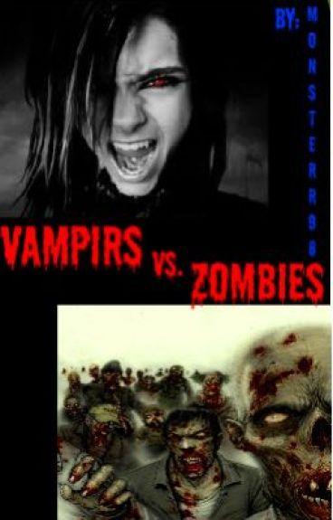 Zombies vs. Vampires by monsterr98