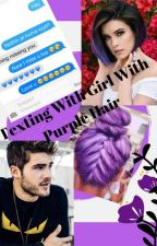Texting With Girl With Purple Hair by _Elza21