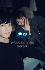 when he texts [taekook] by peachyseokjinnie