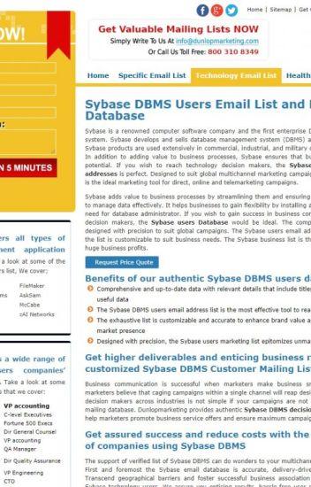 sybase user email list - mary jose - Wattpad