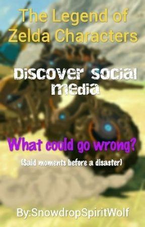The legend of Zelda characters meet Social Media by SnowdropSpiritWolf
