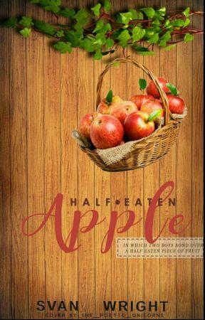 Half eaten apple by Svan_Wright