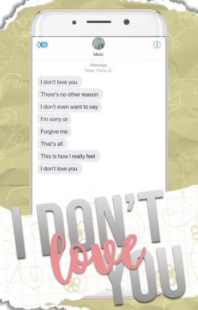 I don't love you by MozzyCB