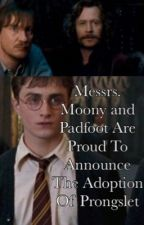 Messrs. Moony and Padfoot Are Proud To Announce The Adoption Of Prongslet by xshanlawton